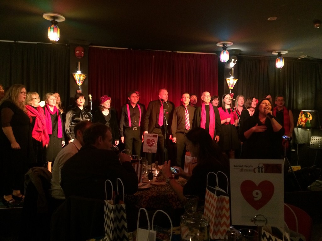The Honeybees perform at the Open Heart International fundraiser